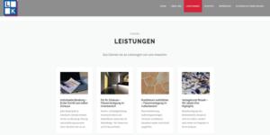 einfache Firmenwebsite